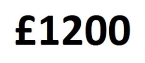 £1200