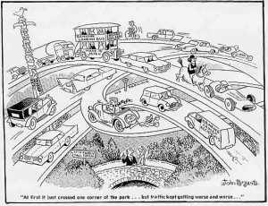 cartoon traffic lanes