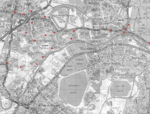 Map air quality monitors