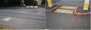 Road markings (nr KP gate)